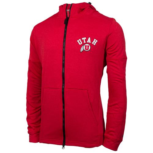 Champion Utah Athletic Logo Full Zip Hooded Sweatshirt