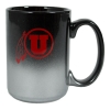 Black to Silver Fade Athletic Logo Mug