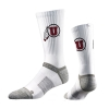 Strideline Ute Proud Athletic Logo White Socks