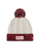 NewEra White Knitted Pom Pom Beanie with Utes Athletic Logo
