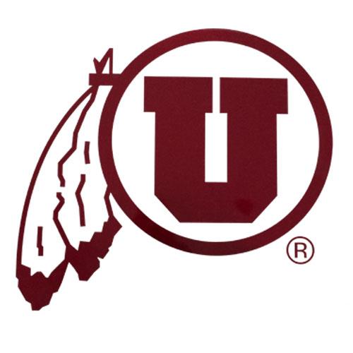 University of Utah Red Athletic logo Decal