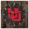Interlocking U Wooden Plank Wall Clock
