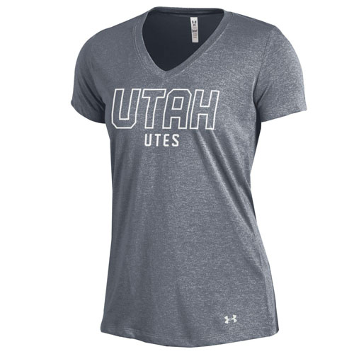 Under Armour Utah Utes Womens V-Neck T-Shirt