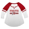 Blue 84 Utah Utes Women's V-Notch Baseball Tee