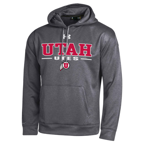 Under Armour Utah Utes Athletic Logo Hooded Sweatshirt