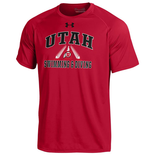 Under Armour Utah Athletic Logo Swimming & Diving T-Shirt