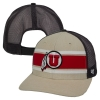47 Brand Striped Athletic Logo Adjustable Hat with Mesh