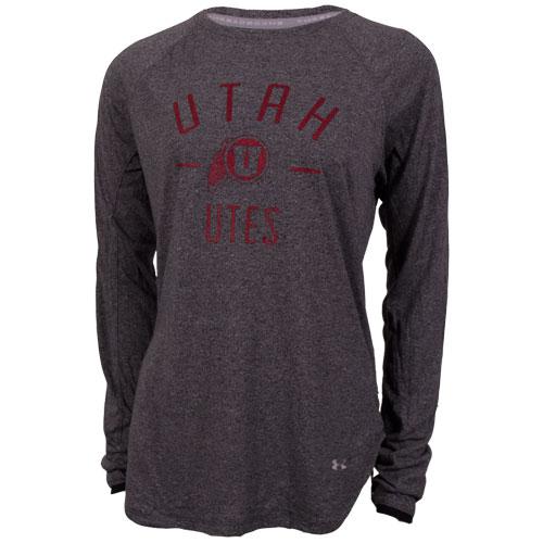 Under Armour Utah Athletic Logo Grey Women Long Sleeve