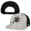 47 Brand Black & Heathered White Athletic Logo Snap Back