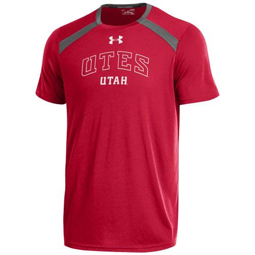 Under Armour UTES UTAH Men Red T-shirt