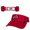 Red Athletic Logo Adjustable Speed Visor Hat