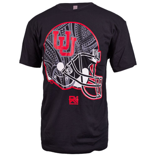 Rooci Wear Interlocking U Helmet Design T-Shirt