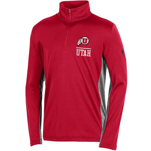 Youth Under Armour Athletic Logo Utah Quarter Zip
