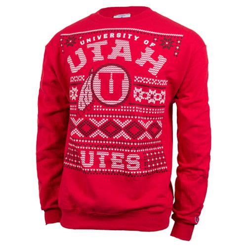 """Utah """"Ugly Sweater"""" Crewneck Sweatshirt"""