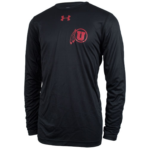 Under Armour Reflective Athletic Logo Long Sleeve Tee
