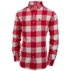 Paxton Men's Long Sleeve Athletic Logo Flannel Dress Shirt