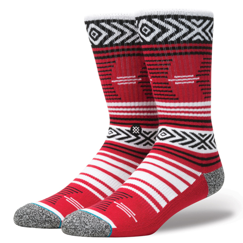 Stance Red and Black Patterned Adult Socks
