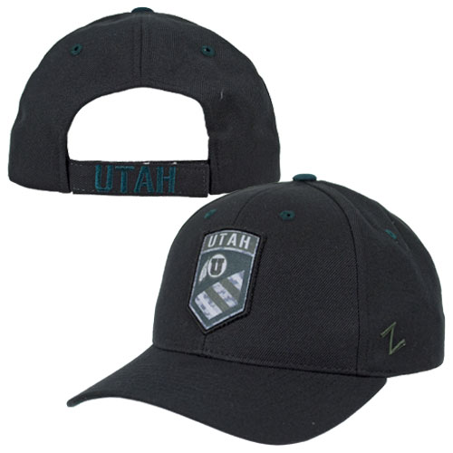 Zephyr Athletic Logo Black Military Patch Hat