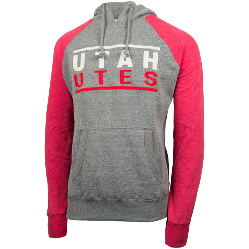 Campus Crew Mens Throwback Utah Utes Hoodie