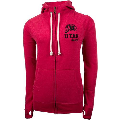 Campus Crew Red Full Zip Women's Hoodie