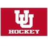 Utah Hockey Interlocking U Red Flag
