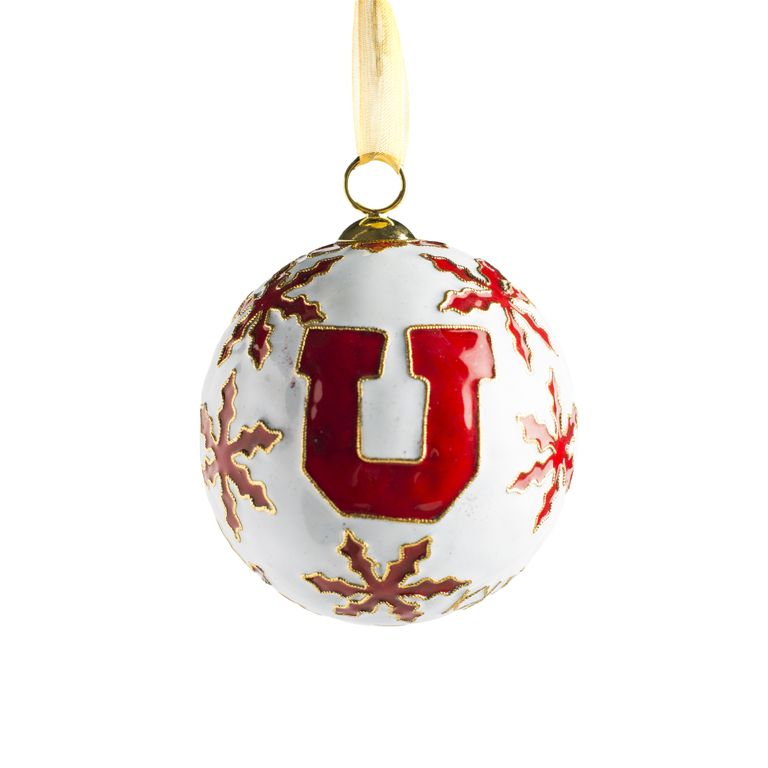 Block U Snowflake Ornament
