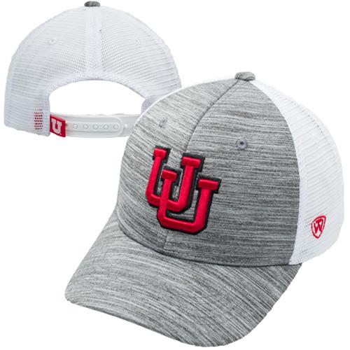 Top of the World Interlocking U Heather Grey Front Hat