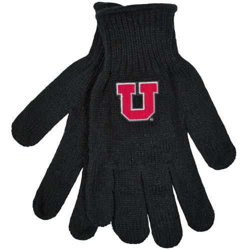 Block U Black Knitted Gloves