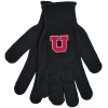 Block U Black Knitted Gloves