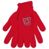Block U Red Knitted Gloves