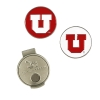 University of Utah Golf Ball Markers and Hat Clip Set
