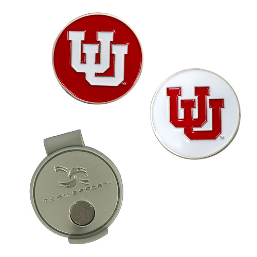 Interlocking U Golf Ball Markers and Hat Clip Set