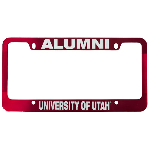 Image For University of Utah Red Alumni License Plate Frame