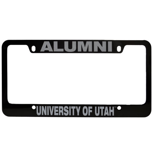 Image For Black University of Utah Alumni License Plate Frame