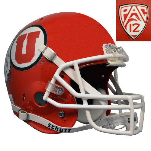 Image For University of Utah Athletic Logo Red Replica PAC 12 Helmet
