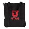 Image for Utah Utes Black Block U Reusable Shopping Tote