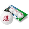 Image for 3 Pack Utah Utes Athletic Logo Linkswalker Golf Balls
