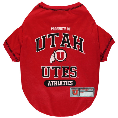 Image For Utah Utes Pet T-Shirt