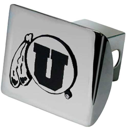 Cover Image For Metal Utah Athletic Logo Hitch Cover