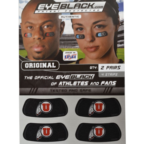 Image For University of Utah Athletic Logo Eyeblacks