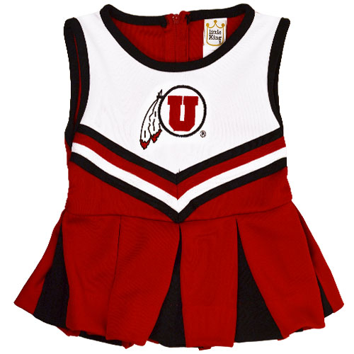 Image For Little King University of Utah Toddler Cheerleader Outfit