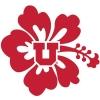 Image for Utah Block U Flower Decal
