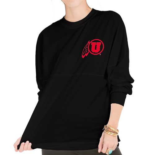 Cover Image For Utes University of Utah Womens Long Sleeve T-Shirt