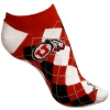 Image for Utah Utes Athletic Logo Argyle Ankle Socks