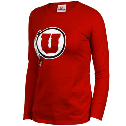Image For Athletic Logo Junior Cut Long Sleeve Shirt