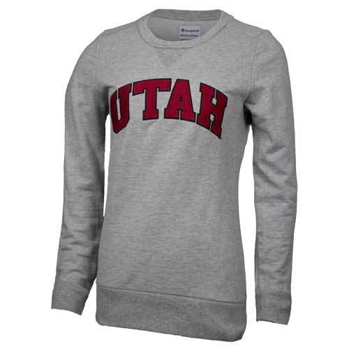 Image For Champion Women's UTAH Crew Neck Sweatshirt