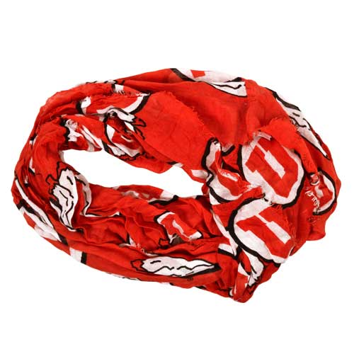 Image For Utes Athletic Logo Infinity Scarf