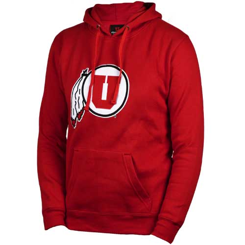 Cover Image For Utah Utes Athletic Logo Womens Juniors Hoodie