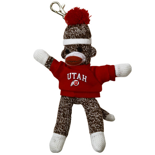 Image For Utah Utes Sock Monkey Key Chain