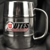 Image for Utah Utes Athletic Logo Macho Stainless Steel Stein Mug